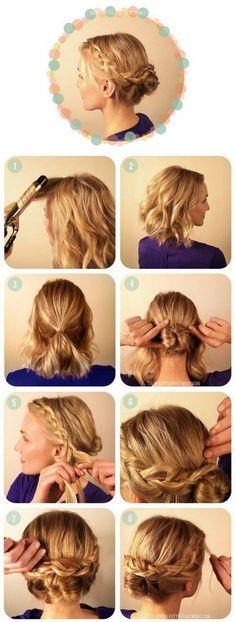 peinado recogido y trenzado para cabello media melena