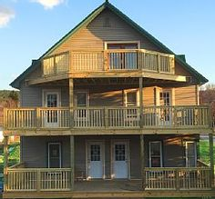 3 levels of balcony's, interior, exterior decks, - Watkins Glen house rental Watkins Glen Ny, Beaver Dam, Pond Waterfall, In Law Suite, Home And Away, Ideal Home, Vacation Rentals, House Styles, Building
