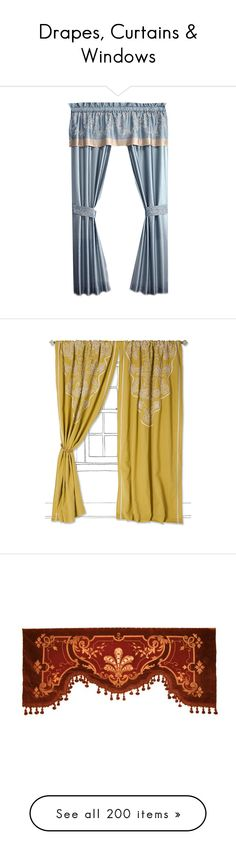 Collection featuring Home Decorators Collection Background, Croscill Curtains, and 198 other items Victorian Curtains, Victorian Windows, Victorian Home Decor, Victorian Homes, Velvet Curtains, Drapes Curtains, Drapery, Victorian Window Treatments, Rod Pocket Curtains