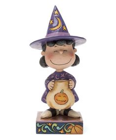This Peanuts Halloween Witch Lucy Figurine is perfect! #zulilyfinds