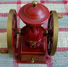 Boyds Red Wagon Red Wheeled Coffee Grinder by MyValleyVintage, $300.00