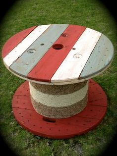 Cable Spool Side Table or Coffee Table