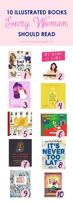 Funny, quirky and whimsical! Read this list of some of the best illustrated books every woman should get their hands on in this lifetime.