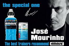 Jose Mourinho, nuevo embajador de la bebida isotónica 4Move