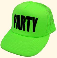Neon Green 'Party' Hat ☻                                                                                                                                                                  ⇜•ṄεΦЙ❉€яᗛƶΣ•⇝