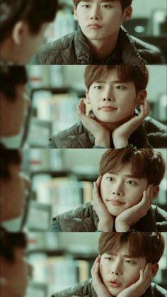 (Pinocchio) Lee Jung Suk oppa so adorable ❤ Korean Celebrities, Korean Actors, Lee Jong Suk Wallpaper, Jong Hyuk, Lee Jong Suk Cute, Kang Chul, K Drama, Song Joong, Doctor Stranger