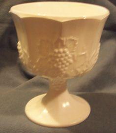 milk glass compote