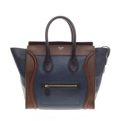 Celine Luggage Tricolor Leather Mini - Designer Handbag - Trendlee