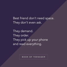 Book Of Teenager ( Besties Quotes, Girlfriend Quotes, Girly Quotes, Boyfriend Quotes, Best Friend Quotes, Funny Quotes, Bffs, Qoutes, Friendship Captions