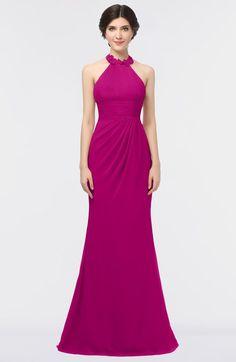 Antique Halter Sleeveless Zip up Floor Length Bridesmaid Dresses