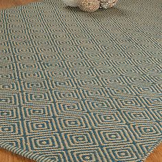 """Recife"" Jute/Cotton Rug Hand Woven - Natural Fiber 4' x 6'"