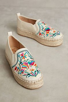 embroidered, slip on