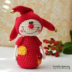 Crochet jester crochet pattern DIY por VendulkaM en Etsy