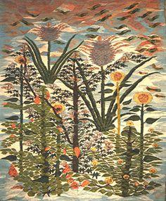 """Sunflowers"", 1983,    wool tapestry, 1.10m x 1.42m,    by Thoraya Hassan (b. 1966)  Ramses Wissa Wassef Art Centre, Giza, Egypt"