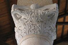 Capitel, en la Iglesia de la Multiplicación de los panes y los peces, en Tierra Santa.