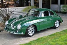 Bold 1958 Porsche 356 I love british racing green Porsche 356 Outlaw, Porsche 356 Speedster, Porsche 356a, Porsche Cars, Classic Sports Cars, Classic Cars, Retro Cars, Vintage Cars, Vintage Porsche
