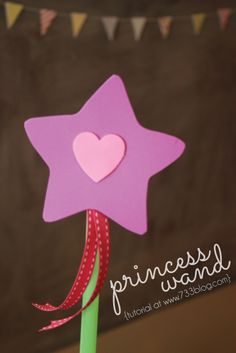 Simple Princess Wand {Tutorial} by www.733blog.com   I love DIY and these will be perfect for the June princess party!