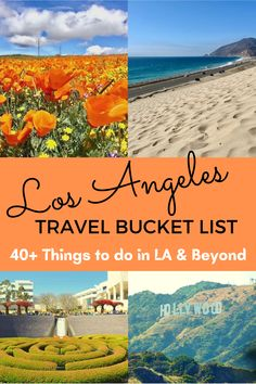 Los Angeles Travel Bucket List: Guide and tips of things to do in Los Angeles and surrounding areas. Southern California Beaches, California Vacation, San Diego Travel, San Francisco Travel, Central America, North America, Budget Travel, Travel Guide, Beautiful Places In Usa