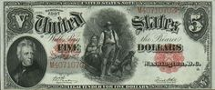 u.s. five dollar bill | Hot Fresh Pics: Very Rare Old US Dollar Bills