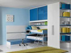 Immagini 030 Kids Bedroom Designs, Corner Desk, Bedroom Decor, Bed Ideas, Cabinet, Kids Rooms, Storage, Children, Furniture
