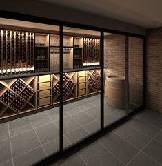 Wine Racks & Storage for your wine collections.- Wine Racks & Storage for your wine collections. Grassl Wine Glassware on www.cjf… Wine Racks & Storage for your wine collections. Grassl Wine Glassware on www. Cave A Vin Design, Bodega Bar, Zigarren Lounges, Spiral Wine Cellar, Wine Cellar Basement, Wine Rack Storage, Wine Racks, Wine Cellar Design, Wine Cellar Modern