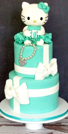 Hello Kitty Tiffany Inspired Birthday Cake