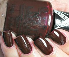 Icy Nails OPI I Sing in Color from the Gwen Stefani Collection. Deep, dark purple jelly.