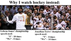 This Hilarious Comparison Of LeBron James And Hockey Stars Shows Us What Sport Real Men Play (Photos)