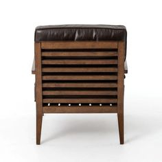 Cedar Trellis, Joss And Main Furniture, Door Furniture, Occasional Chairs, Dark Brown Leather, Decorative Pillows, Solid Wood, Accent Chairs, Mid Century