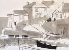 'Portscatho Harbourside' by Richard Tuff