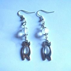 "Boucles d'oreilles originales ""le chat disco"""