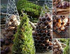 Sapins décoratifs aux couleurs d'automne !!! Sapin,Noël,grillage