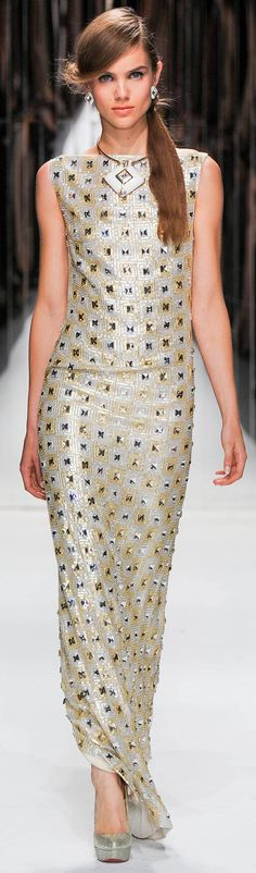 #Jenny Packham Spring Summer 2013 Ready-To-Wear Collection   #Trend Metallics