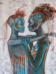 """Becoming,"" mixed media on canvas by Sabrina Brett"