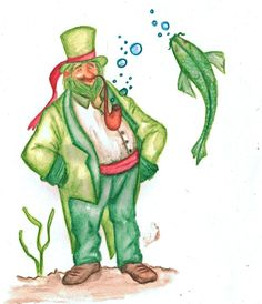 Vodník - ukázka z knížky Phobias, Dream Big, Scary, Creatures, Logo, Water, Artist, Water Water, Logos