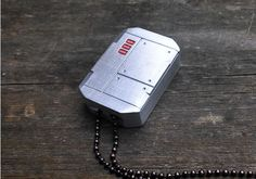 Pill Box Necklace Pendant Keychain Metal indestructible flash memory storage Cool Gift Future Dog Tag groomsmen- DTM Bot on Etsy, $45.00