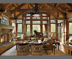 Agreeable Rustic Living Room Decoration Ideas : Amazing Rustic Living Room Interior Design Decoration Inspiration With Stone And Wooden Material Stone Fireplace Hardwood Ceiling Decor Rustic Sofa Wooden Flooring Architectural Digest, Home Design, Home Interior Design, Room Interior, Interior Modern, Kitchen Interior, Ideas Habitaciones, Decoration Inspiration, Decor Ideas