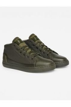 Thec Mid-Top Mono Sneakers #modasto #giyim #erkek https://modasto.com/g-ve-star/erkek/br2557ct59