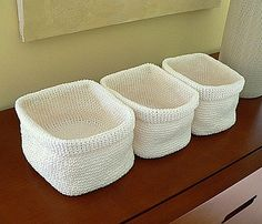 Crochet pattern storage basket...