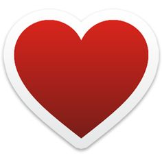 Heart Icon from Colorful Stickers Part 2 Set - 256x256 px