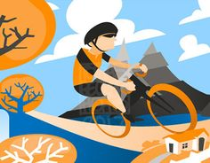 """Check out new work on my @Behance portfolio: """"Cyclist"""" http://be.net/gallery/51254925/Cyclist"""