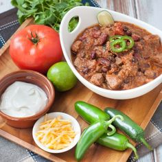 This beef chili recipe is easy to make and so full of flavour! The bonus is that this chili is made in a pressure cooker so it's fast!