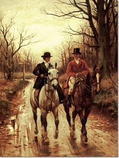 John Sanderson Wells - Going Out Foxhunting Painting (I like the horses but in a cheerful colorful scene) Equestrian Art, Animal Art, Art Gallery, Art, Hunting Art, Artwork, Horse Painting, Painting, Animal Paintings