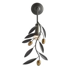 The wall mounted counterpart to our Olive Branch Pendant, this natural iron sconce with antique brass olives casts the same willowy shadows as the hanging fixture. Perfect anywhere organic drama is required! Also available as pendant Approved Chandeliers, Luxury Chandelier, Luxury Lighting, Lighting Design, Wall Sconce Lighting, Wall Sconces, Beautiful Houses Interior, Light Crafts, Inspired Homes