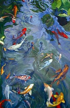 Their spectacular colors and patterns are part of the reason that koi fish are loved today and treasured by their owners. Colors of a koi fish should be bright. Koi Fish Pond, Fish Ponds, Koi Art, Fish Art, Koi Kunst, Image Foto, Koi Painting, Art Abstrait, Asian Art