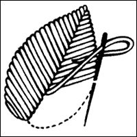 Surface Satin Stitch - A Satin Stitch variation that is more economical in its use of thread, but a little tricky to work neatly.