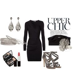"""Simple Black Dress"" by allygl on Polyvore"