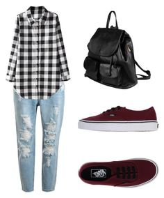 """""""Casual"""" by tania-alves ❤ liked on Polyvore featuring Vans and PARENTESI"""