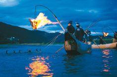"Nagara River Komran Fishing ""Ukai"", Mitarai, Gifu City  http://www.ukai-gifucity.jp/ukai/ #Japan"