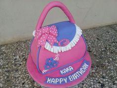 Handbag cake by Chihavillah. Handbag Cakes, Cake Pops, Saddle Bags, Cupcakes, Birthday, Fashion, Cookies, Moda, Cupcake Cakes